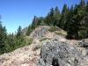 Rock outcrops on ridge above Poker Flat