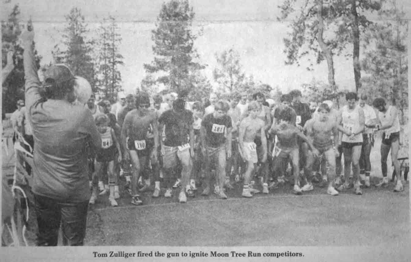 Moon Tree Run, June 11, 1987 starting line