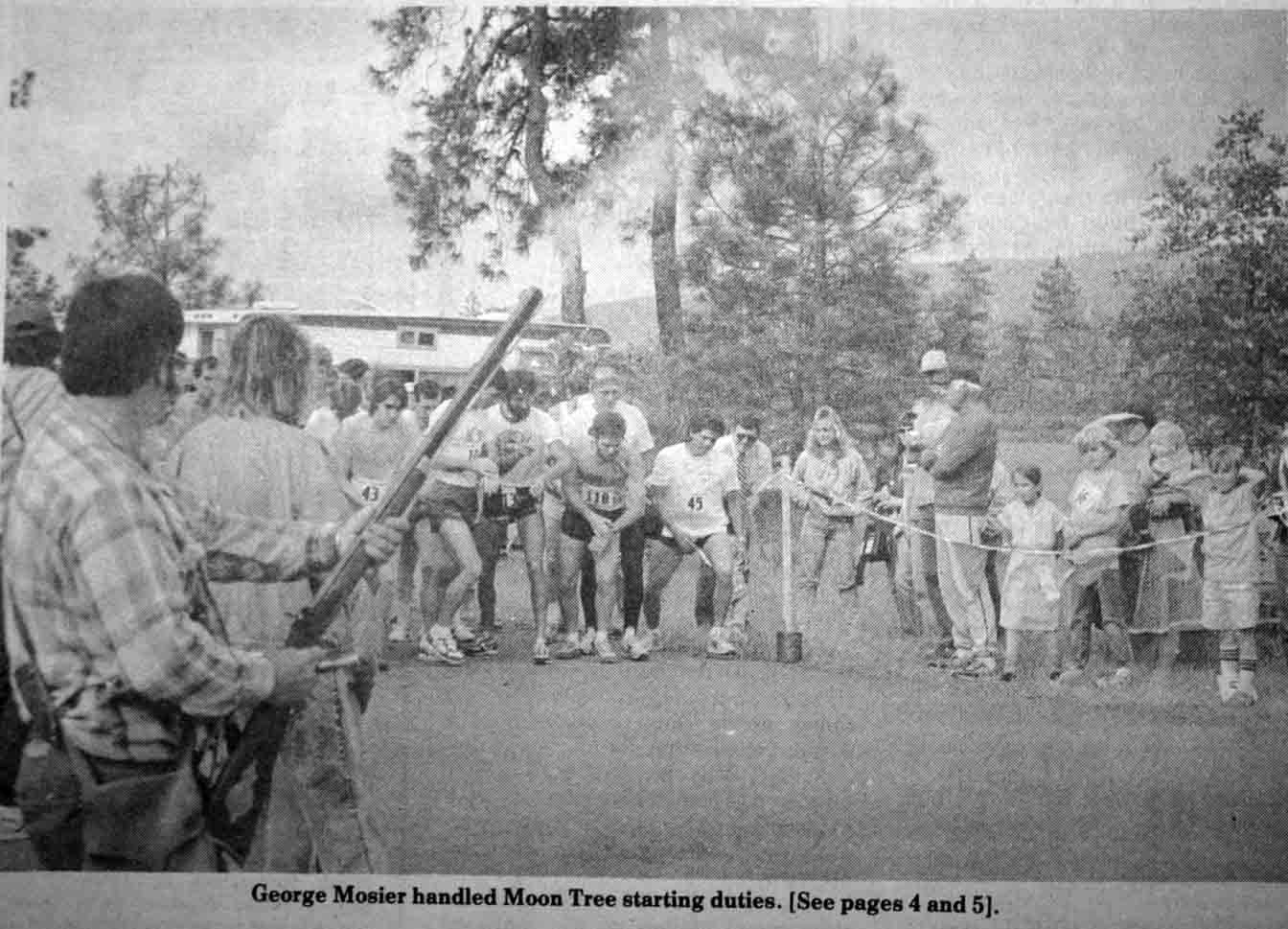Moon Tree Run June 4, 1988 start of run
