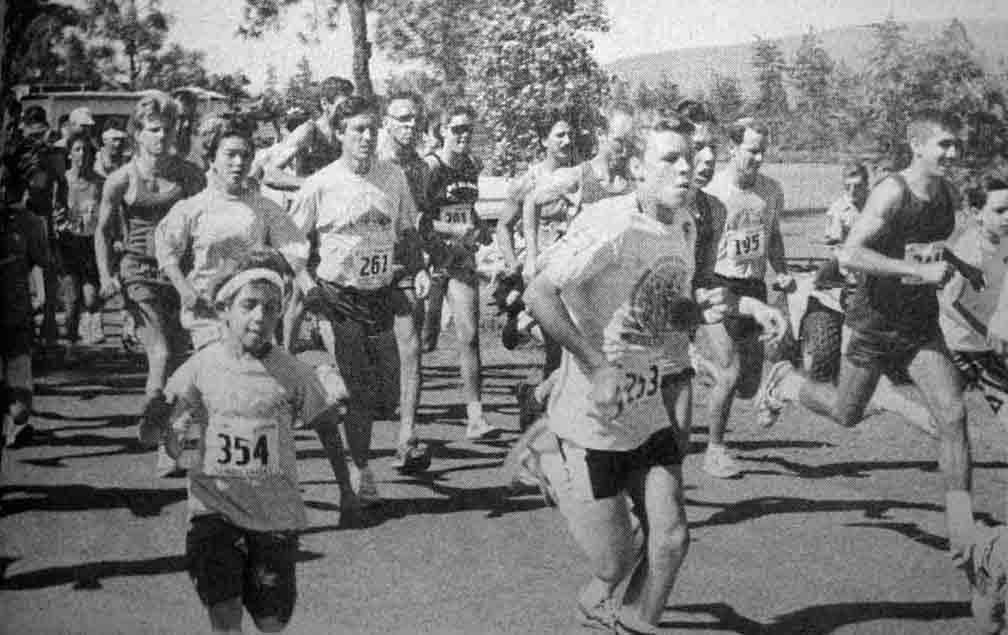 Moon Tree Run, June 8, 1989 run begins