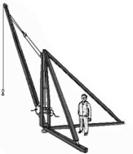 Illustration of simple derrick design.