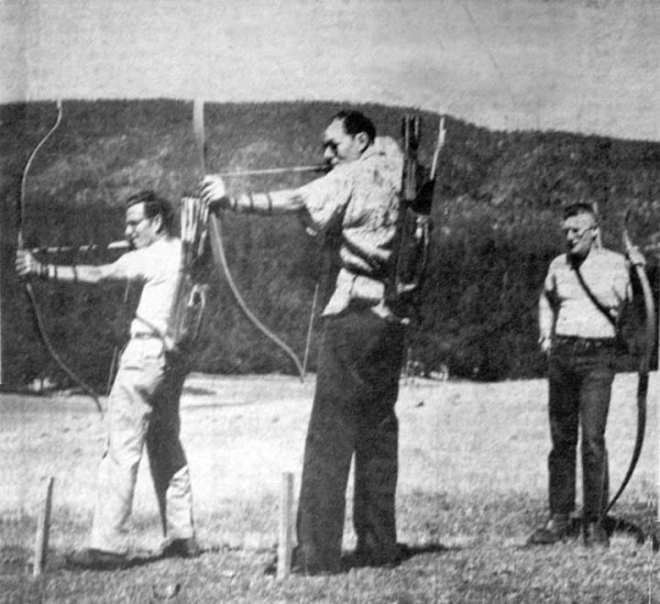 Photo of archery competition in 1954 near Cave Junction, Oregon