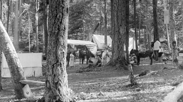 Historic photo of Grayback Campground, Oregon Caves Highway, Cave Junction, Oregon