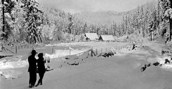Historic photo of the Grimmett Ranch, Oregon Caves HIghway, Cave Junction, Oregon