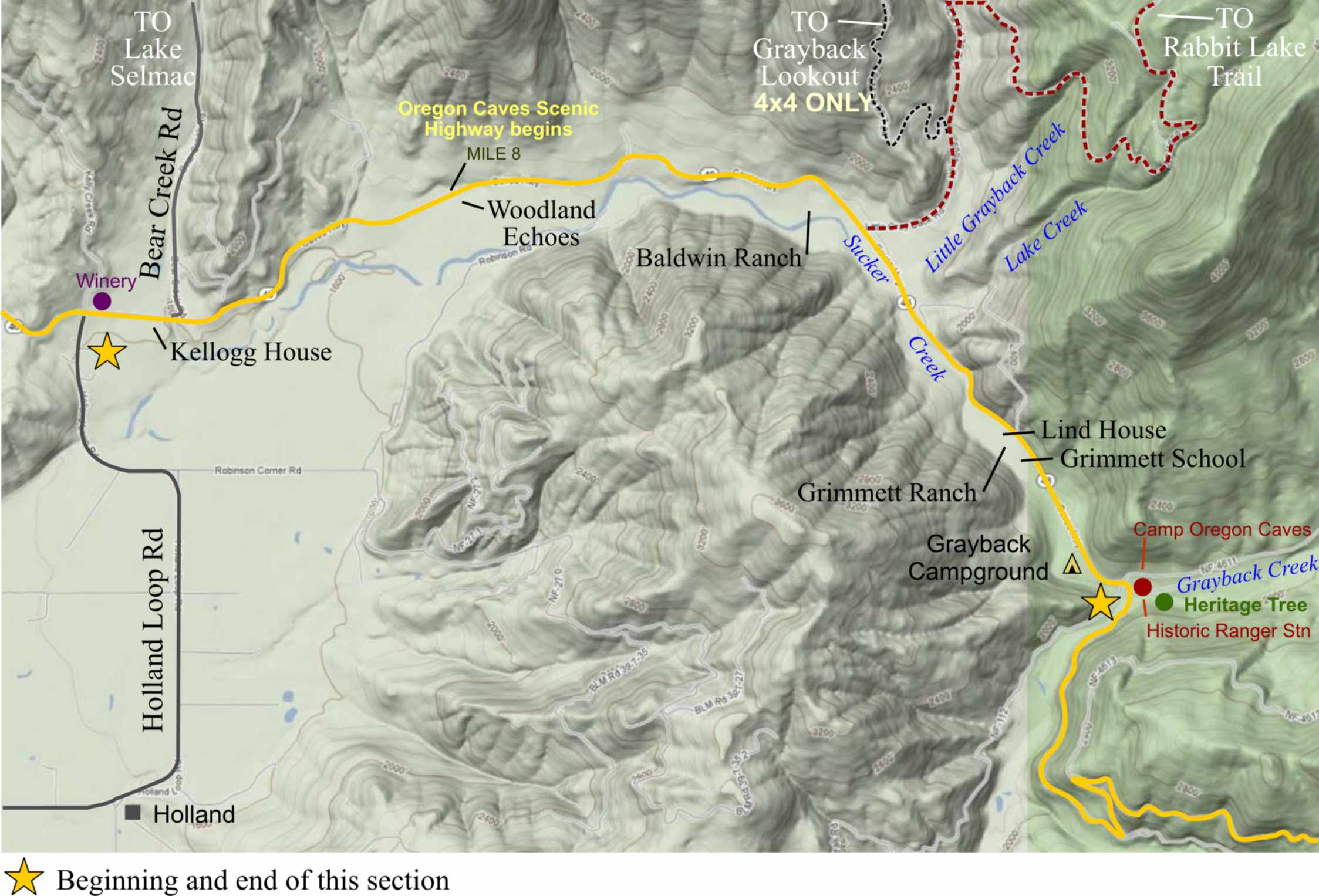 Section 2 – Oregon Caves Road Guide | Highway 199