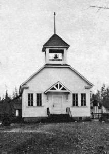 Historic photo of Spence School. Date uncertain. Oregon Caves Highway Road Guide, Cave Junction, Oregon
