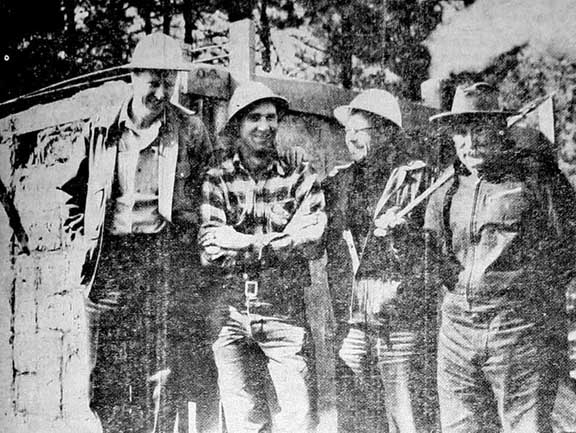 Photo of Jiggs Morris from a 1955 newspaper article, Cave Junction, Oregon