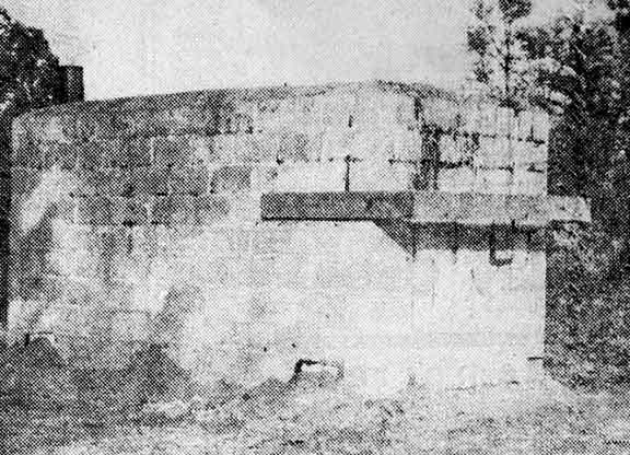Newspaper photo of the Jiggs charcoal kiln taken in 1952, Cave Junction, Oregon
