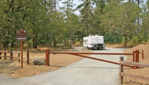 Park Host site at Illinois River Forks State Park, Oregon. Click image to see enlarged view.