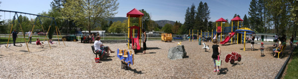 Playground at Jubilee Park. Click image to see enlargement.