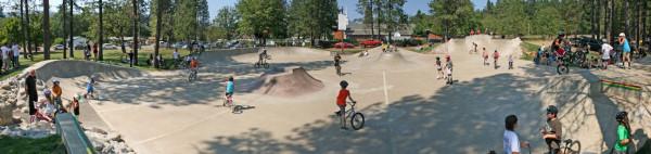Skateboarding at Jubilee Park, Cave Junction, Oregon