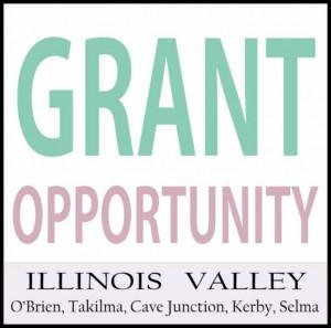 Logo for grant opportunities in Cave Junction, southwest Oregon
