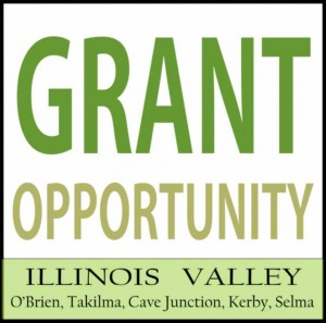 Logo for grant opportunities in Cave Junction, southwest Oregon