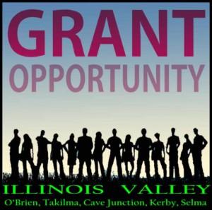Logo grant opportunity, Cave Junction, Oregon