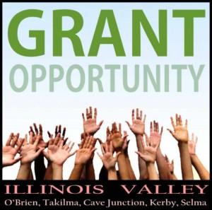 Logo for grant opportunity, Cave Junction, Oregon