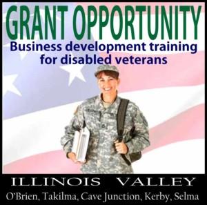 Logo for grant to provide business development education for disabled veterans, Cave Junction, Oregon
