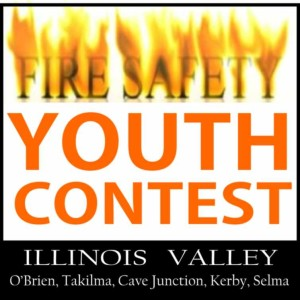 logo for youth contest for fire safety, cave junction, oregon