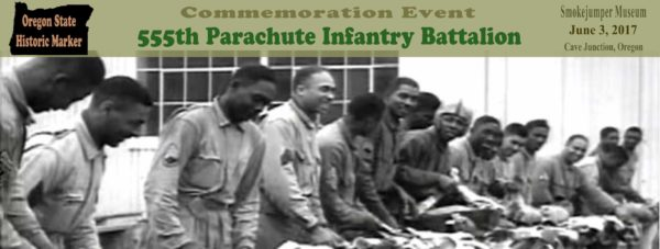 555th Parachute Infantry Battalion Commemoration banner