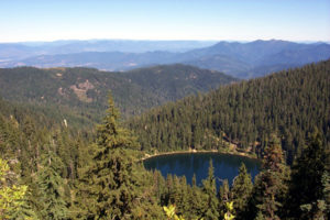 Photo of Bolan Lake looking north. Cave Junction, Oregon