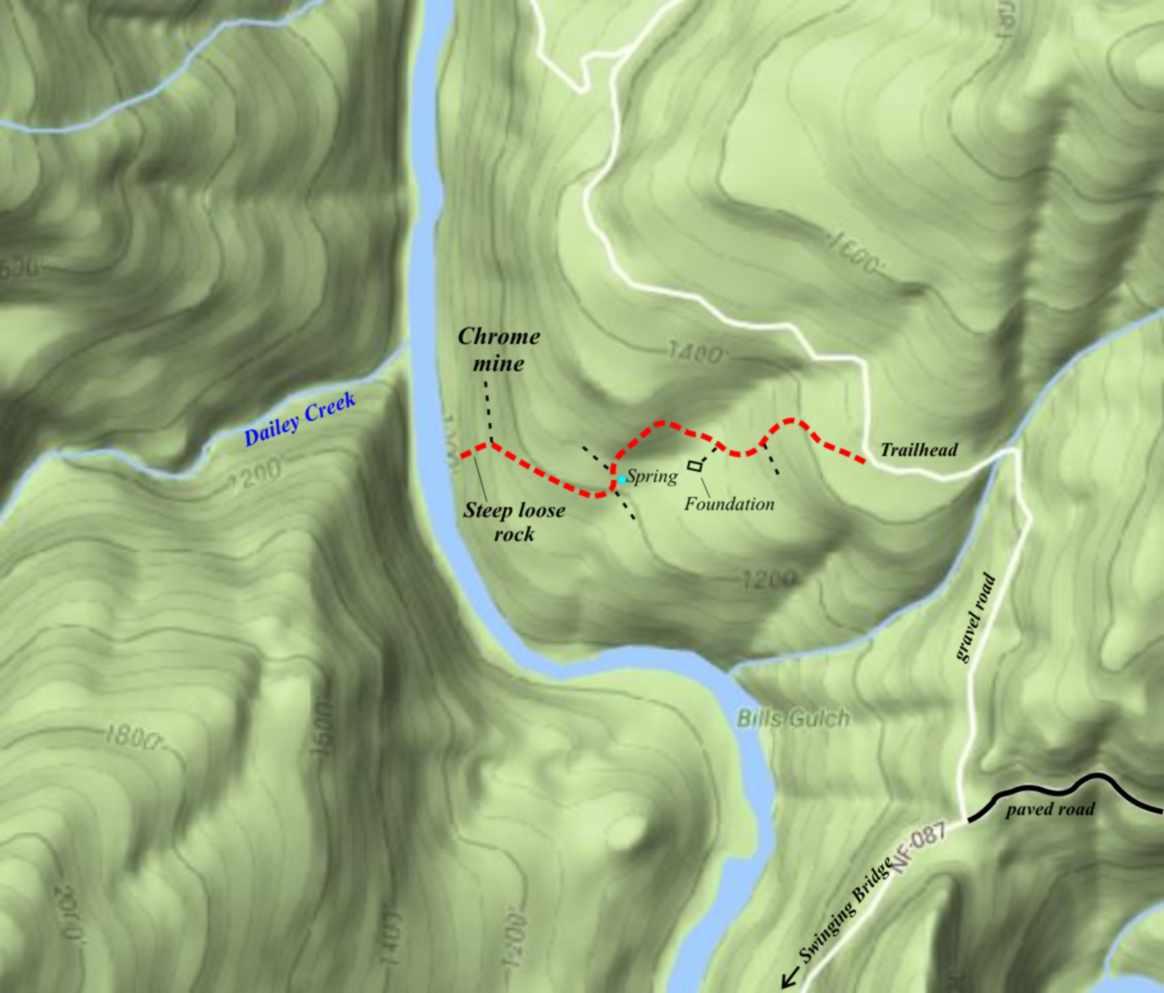 Deep Gorge Trail Highway 199