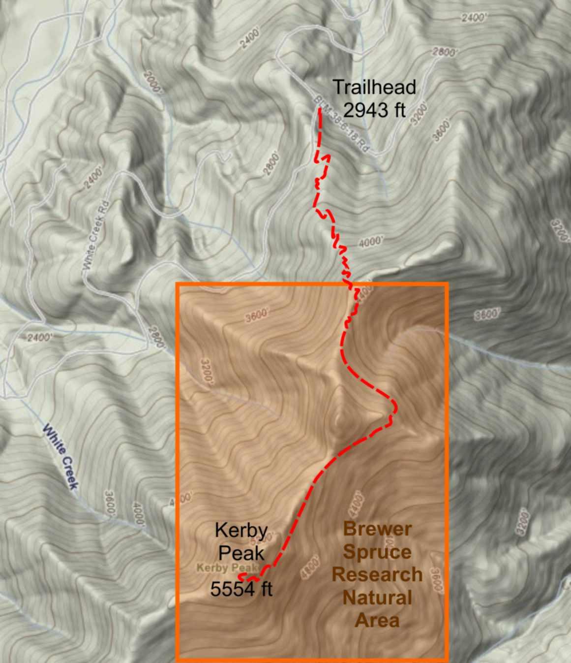 Kerby Peak Trail Highway 199