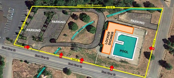 Map of Cave Junction City Pool, Cave Junction, Oregon