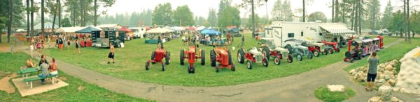 Image showing a panorama view of the Labor Day Festival in Jubilee Park, Cave Junction, Oregon