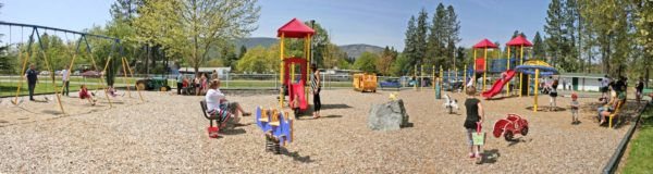 Image showing playground at Jubilee Park, Cave Junction, Oregon